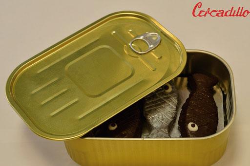 Febrero | Carnaval | Postre sardina de chocolate