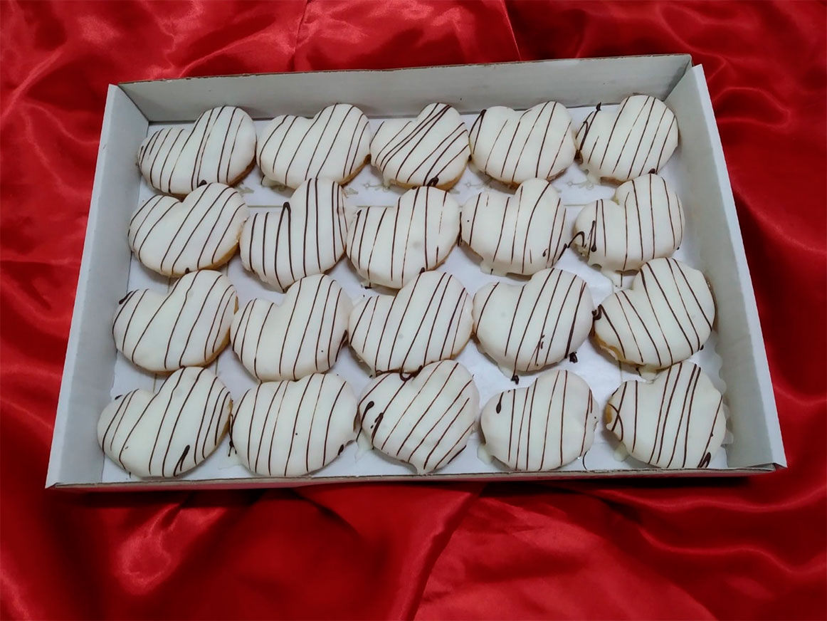 Palmeritas Artesanas Chocolate Blanco | Cercadillo